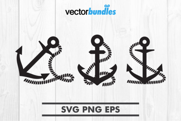Download Free Anchor Rope Clip Art Svg Graphic By Vectorbundles Creative Fabrica for Cricut Explore, Silhouette and other cutting machines.