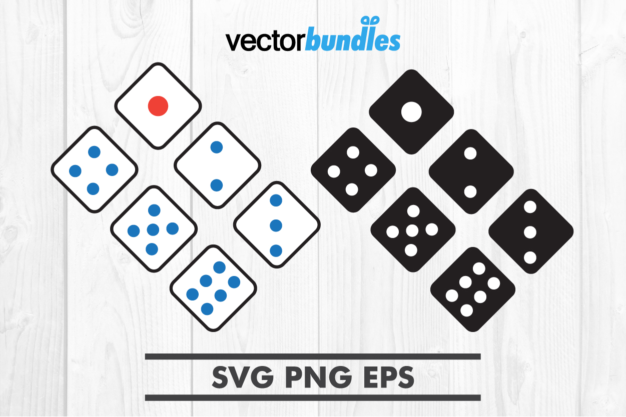 Download Free Dice Clip Art Svg Graphic By Vectorbundles Creative Fabrica for Cricut Explore, Silhouette and other cutting machines.