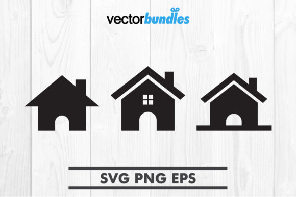 Download Free House Clip Art Svg Graphic By Vectorbundles Creative Fabrica for Cricut Explore, Silhouette and other cutting machines.