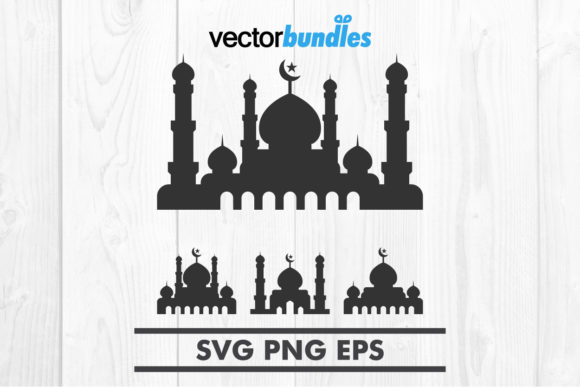 Download Free Mosque Clip Art Svg Graphic By Vectorbundles Creative Fabrica for Cricut Explore, Silhouette and other cutting machines.