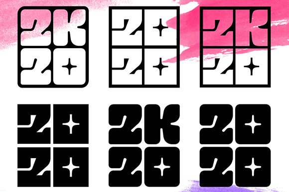 2020 Numbers Lettering Set Graphic Illustrations By Yurlick - Image 6
