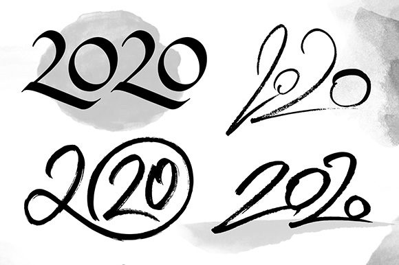 2020 Numbers Lettering Set Graphic Illustrations By Yurlick - Image 5
