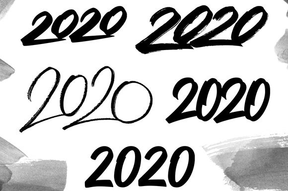 2020 Numbers Lettering Set Graphic Illustrations By Yurlick - Image 7