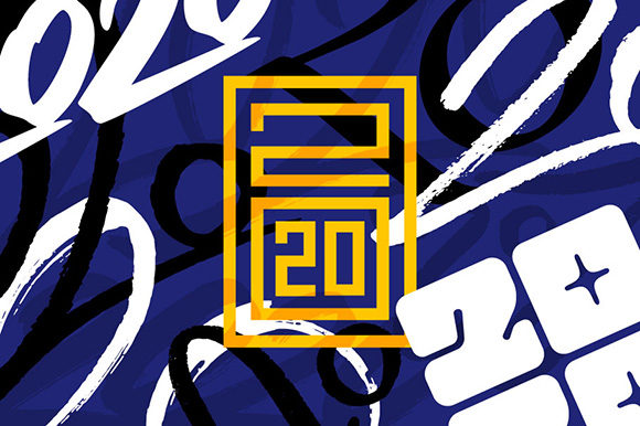 2020 Numbers Lettering Set Graphic Illustrations By Yurlick - Image 8
