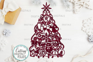 Download Free Assorted Christmas Tree Decoration Svg Graphic By Cornelia for Cricut Explore, Silhouette and other cutting machines.