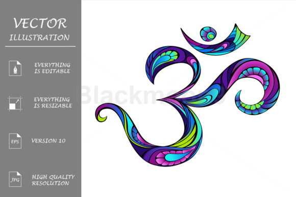 Patterned Symbol Om Graphic Illustrations By Blackmoon9