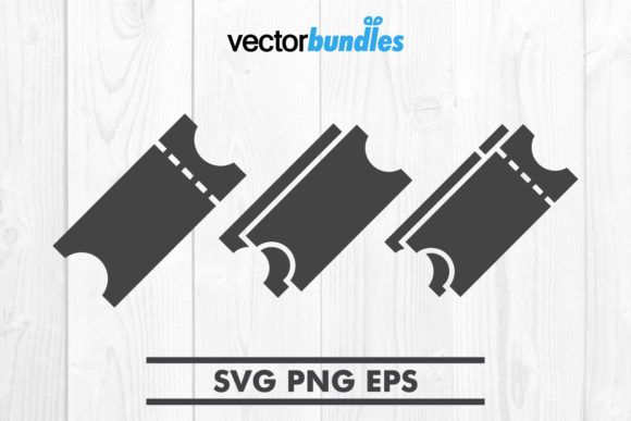 Download Free Ticket Clip Art Svg Graphic By Vectorbundles Creative Fabrica for Cricut Explore, Silhouette and other cutting machines.