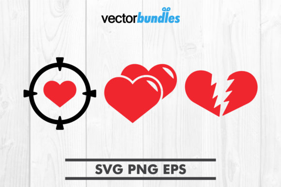 Download Free Heart Clip Art Svg Graphic By Vectorbundles Creative Fabrica for Cricut Explore, Silhouette and other cutting machines.