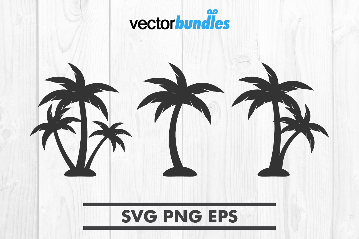 Download Free Palm Tree Clip Art Svg Graphic By Vectorbundles Creative Fabrica for Cricut Explore, Silhouette and other cutting machines.