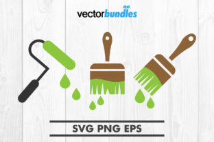 Download Free Paint Brush Clip Art Svg Graphic By Vectorbundles Creative Fabrica for Cricut Explore, Silhouette and other cutting machines.