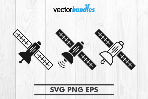 Download Free Space Satellite Clip Art Svg Graphic By Vectorbundles Creative for Cricut Explore, Silhouette and other cutting machines.