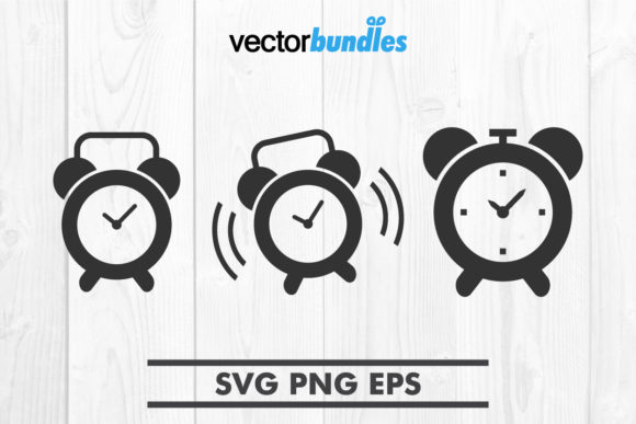 Download Free Alarm Clock Clip Art Svg Graphic By Vectorbundles Creative Fabrica for Cricut Explore, Silhouette and other cutting machines.