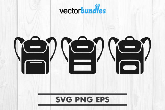 Download Free School Bag Clip Art Svg Graphic By Vectorbundles Creative Fabrica for Cricut Explore, Silhouette and other cutting machines.