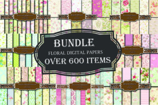 Floral Papers Bundle, over 600 Papers Graphic By retrowalldecor