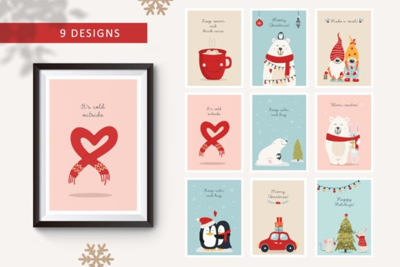 Christmas Hugs Collection Graphic Illustrations By Alisovna - Image 4