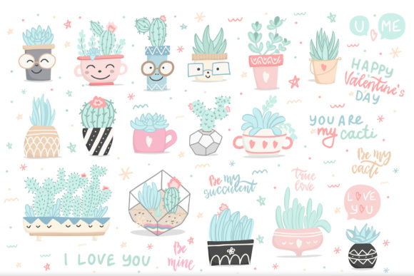 Cute Cactus Set Graphic Illustrations By Alisovna - Image 3