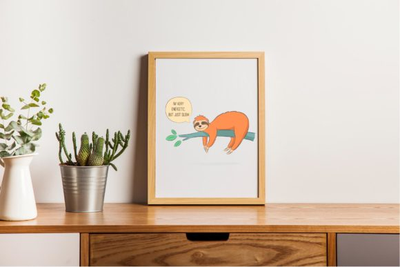 Cute Sloth Collection Graphic Illustrations By Alisovna - Image 7