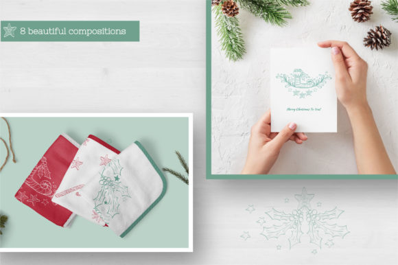 Doodle Christmas Vector Collection Graphic Illustrations By Tatyana_Zenartist - Image 7