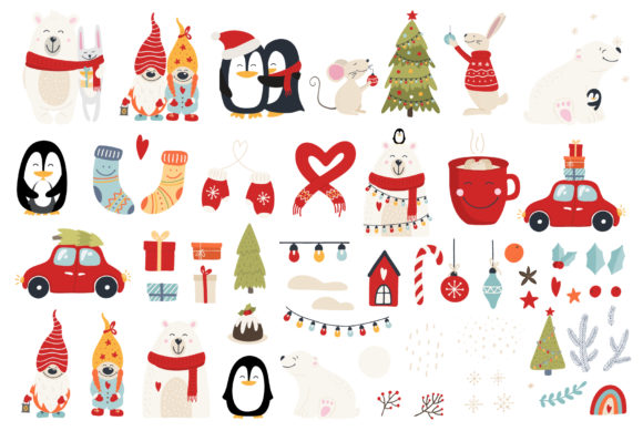 Christmas Hugs Collection Graphic Illustrations By Alisovna - Image 7