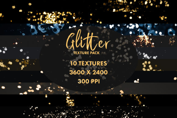 Print on Demand: Abstract Glitter Textures (Set of 10) Graphic Textures By OA Design