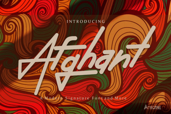 Print on Demand: Afghant Display Font By arttotell