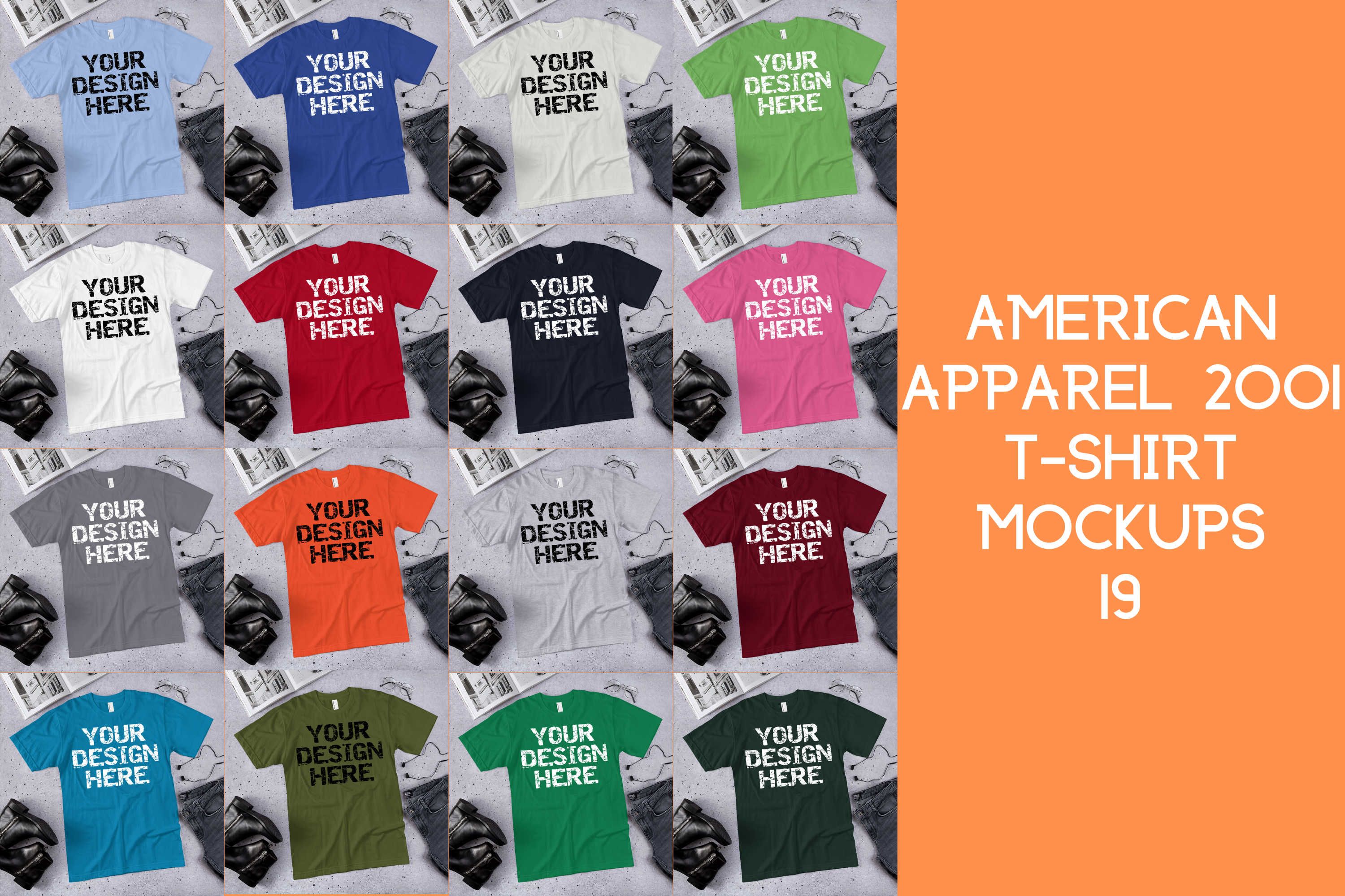 Download Free American Apparel 2001 Tshirt Mock Ups 19 Graphic By Mockup Venue for Cricut Explore, Silhouette and other cutting machines.