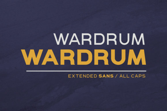 Print on Demand: Wardrum Sans Serif Font By letterhend