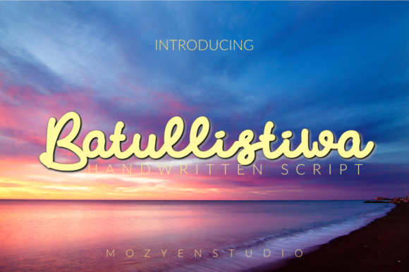 Print on Demand: Batullistiwa Script & Handwritten Font By mozyenstudio