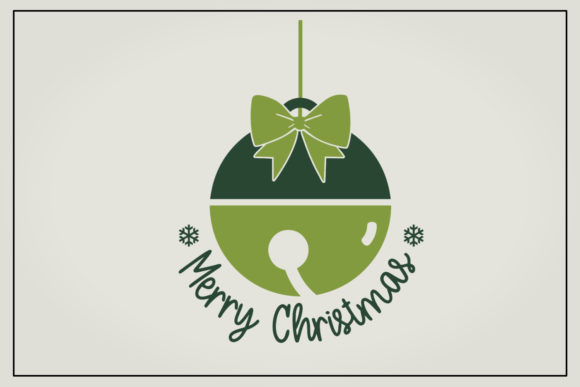 Download Free Bell Merry Christmas Graphic By Boertiek Creative Fabrica for Cricut Explore, Silhouette and other cutting machines.