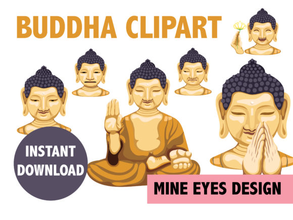 Buddha Clipart Graphic Illustrations By Mine Eyes Design