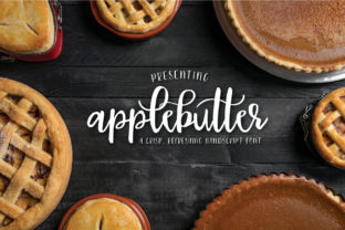 Applebutter Script & Handwritten Font By browncowcreatives