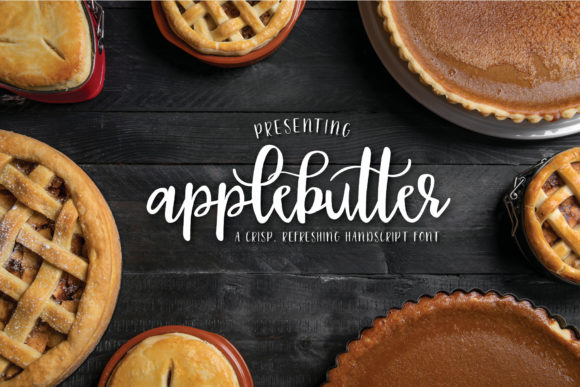 Print on Demand: Applebutter Script & Handwritten Font By browncowcreatives