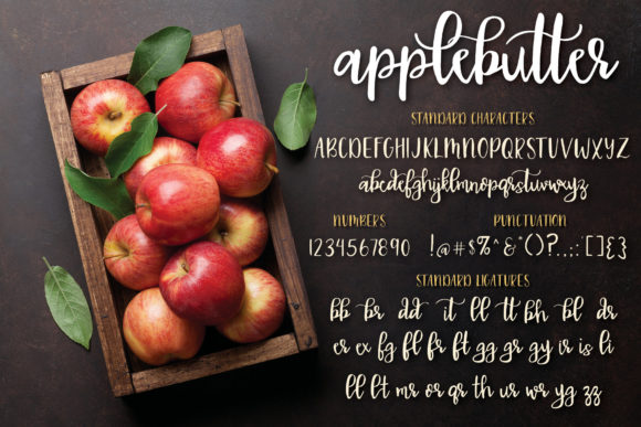 Applebutter Font By browncowcreatives Image 2