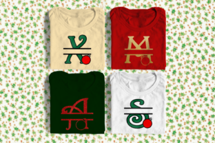 Download Free Christmas Ornament Split Letters Graphic By Designedbygeeks for Cricut Explore, Silhouette and other cutting machines.