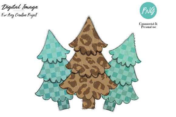 Print on Demand: Christmas Tree Design,leopard Pine Tree Graphic Illustrations By adlydigital - Image 1