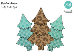 Christmas Tree Design,leopard Pine Tree Graphic By adlydigital