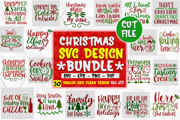 Download Free Christmas Design Big Bundle Vol 2 Graphic By Orindesign for Cricut Explore, Silhouette and other cutting machines.