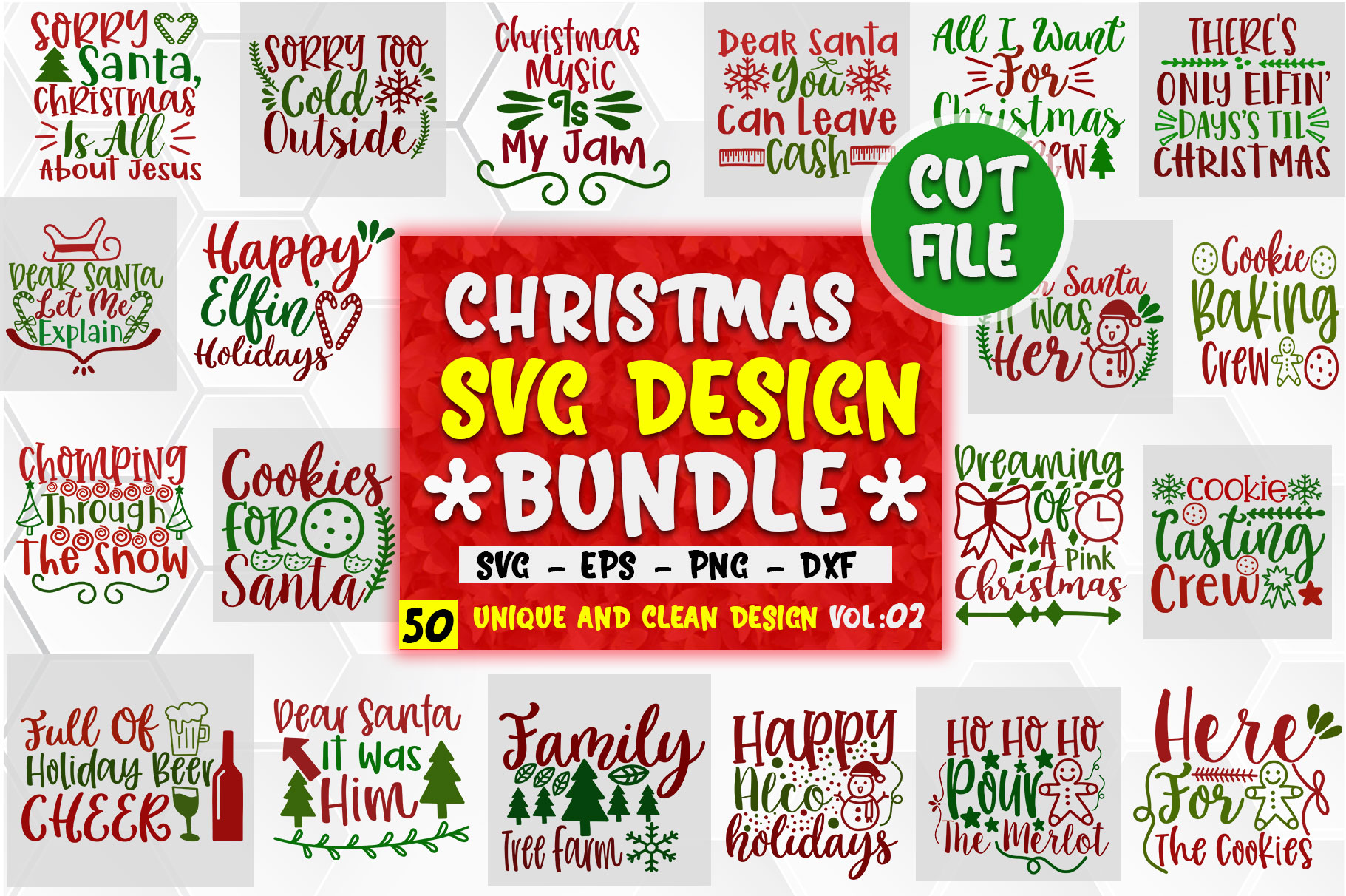 Download Free Christmas Design Big Bundle Vol 2 Graphic By Orindesign SVG Cut Files