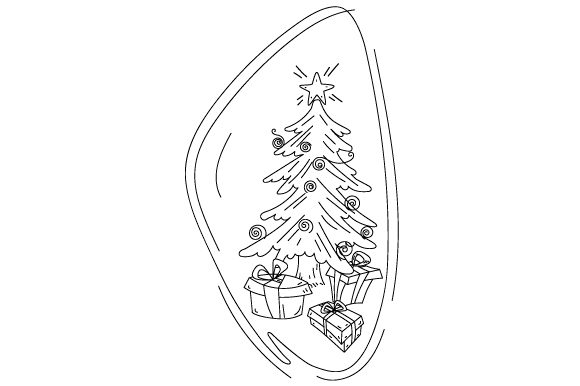 Download Free Christmas Tree With Presents In Abstract Art Style Svg Cut File for Cricut Explore, Silhouette and other cutting machines.