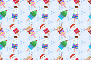 Download Free Cute Christmas Ice Cream Pattern Graphic By Ranger262 for Cricut Explore, Silhouette and other cutting machines.