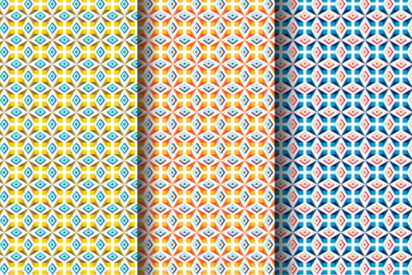 Print on Demand: Colorful Geometric Pattern Graphic Patterns By noory.shopper