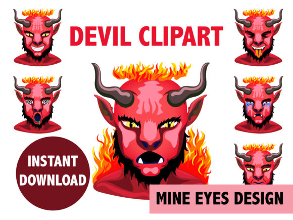 Devil Clipart Graphic Illustrations By Mine Eyes Design