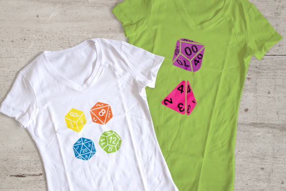 Dice Set  Graphic Crafts By DesignedByGeeks
