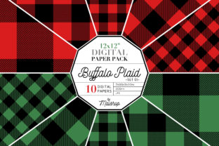 Digital Paper Buffalo Plaid Set 01 Gráfico Por Maishop