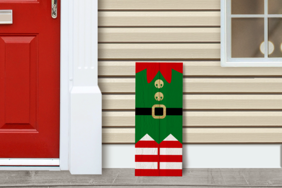 Download Free Christmas Elf Porch Sign Graphic By Risarocksit Creative Fabrica for Cricut Explore, Silhouette and other cutting machines.
