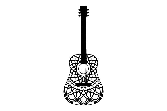 Download Free Guitar Mandala Style Svg Cut File By Creative Fabrica Crafts for Cricut Explore, Silhouette and other cutting machines.