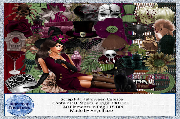 Halloween Celeste Graphic By Digiscrap Angelhaze