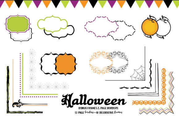 Print on Demand: Halloween Clipart Bundle Graphic Illustrations By browncowcreatives - Image 2