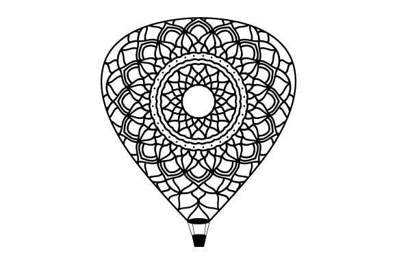 Download Free Hot Air Balloon Mandala Style Svg Cut File By Creative Fabrica for Cricut Explore, Silhouette and other cutting machines.