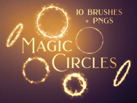 Print on Demand: Magic Circles Photoshop Brushes and PNGs Graphic Brushes By OA Design